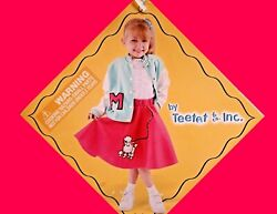 Halloween Custom Girls: Poodle Skirt amp; Letterman#x27;s Jacket Fits 3 One Size $18.00