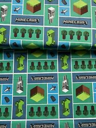Minecraft Mosaic 100% Cotton Fabric FAT QUARTER 18quot; x 21quot; Ready to ship w n 24 H $9.99