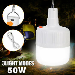 50W LED Camping Light USB Rechargeable Outdoor Tent Lamp Hiking Lantern Lamp $8.98
