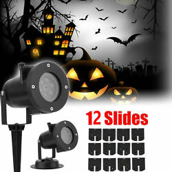 Christmas LED Projection Lamp Light Projector 12 Pattern Party Lights Halloween