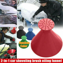 Magical Car Windshield Ice Snow Remover Scraper Tool Cone Shaped Round Funnel $4.31