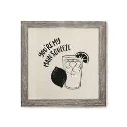 You#x27;re My Main Squeeze Canvas Kitchen Wall Art $12.00