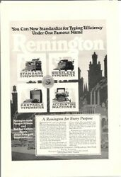 1926 Vintage Ad Remington for Every Purpose Typewriter Accounting Machine $6.90