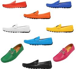 Amali Mens Breathable Leather Driving Loafer Moccasin Casual Slip On Shoes $59.99