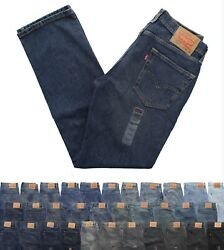 Levi#x27;s 514 Men#x27;s Straight Fit Denim Jeans Classic Blue Jean Pants $29.99