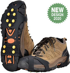 S M L XL 10 Stud Ice amp; Snow Grips Over Shoe Boot Cleat Anti Slip Crampons $4.76
