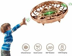 360° Mini Drone Quad Levitation Hand Control Operated UFO Toy Helicopter For Kid $17.09