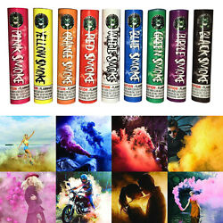 Pack of 9 Colors Smoke Bomb Canisters photography Thick Smoke Stage Model Party $48.99