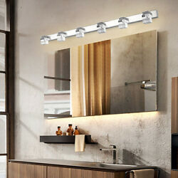 6 Lights LED Crystal Bathroom Mirror Front Light Wall Lamp LED Make Up Fixture $64.00