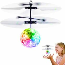 Ball Flying UFO Disco Helicopter Ball RC Toy LED Kids Boys Girls Gifts New $14.99