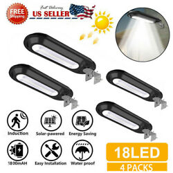 4x Outdoor Commercial 18LED Solar Street Light Waterproof Dusk to Dawn Lamp Home