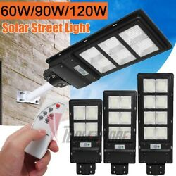 Outdoor Commercial Solar Street Light PIR Sensor Dusk to Dawn IP67 Lamp Remote