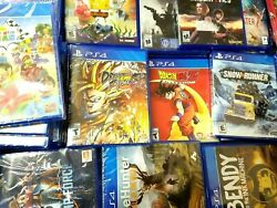 PS4 Video Games Assorted Titles Opened and Unopened $14.99
