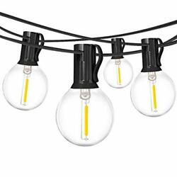 2 Pack 18Ft Outdoor Patio String LightsUL Listed Commercial Light String with...