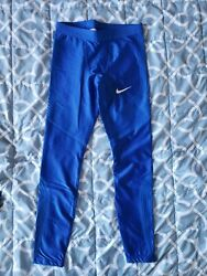 Nike Mens Pro Elite Power Speed Long Tights Size Medium Track and Field Rosa $99.99