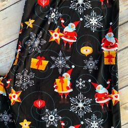 Christmas Snowflake Santa Claus Star Holiday Women#x27;s Leggings TC Plus Size 10 18 $10.99