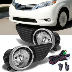 For 2011 2015 Toyota Sienna Clear Bumper Fog Lights Driving Lamp Switch Wiring $44.99
