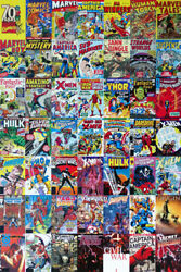 Marvel Comics 70 Years Anniversary Books Art Wall Room Poster POSTER 24x36 $18.99