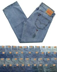 Levi#x27;s Men#x27;s 505 Jeans Regular Fit Denim Blue Jean Pants Tapered or Straight Leg $29.99