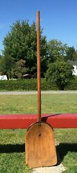 ANTIQUE Wooden SHOVEL w Curved Handle 52quot; Long Farm NICE COUNTRY DECOR #27 $72.49