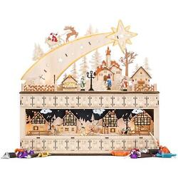 Best Choice Products Wooden Christmas Shooting Star Advent Calendar W Battery O $60.35