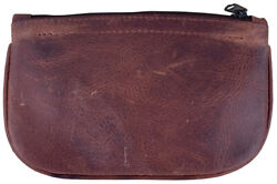 Brown Leather Full Size Tobacco Pouch with Zipper Holds 2 oz Pipe Tobacco 9300 $16.95