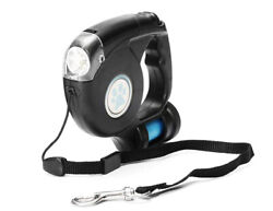 3 In 1 Retractable Dog Leash with LED Flashlight amp; Bag Dispenser $13.95