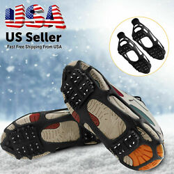 Winter Ice Snow Anti Slip Grips Grippers Crampons Walk Cleats Shoes Spike Boots $14.98