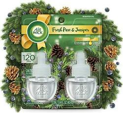 Air Wick Plug in Scented Oil 2 Refills Fresh Pine and Juniper Fall scent Fall $10.19