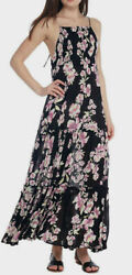 Free People Garden Party Floral Spaghetti Stap Maxi Dress XS $27.99