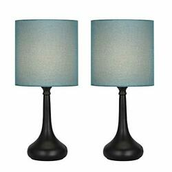 Table Lamps Set of 2 Bedside Lamp Nightstand Desk Modern Lamps 2 Pack with Bl... $41.32