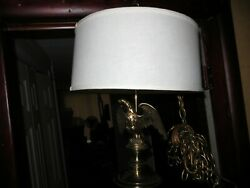 STIFFEL Vintage Federal Style Brass American Eagle Hanging Swag Ceiling Lamp $59.95