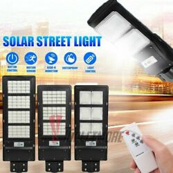 320LED Commercial Solar Street Light Dusk to Dawn Motion Sensor Road LampRemote