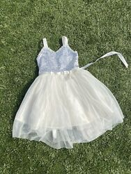 Girls White Special Occasion Dress Size 6X $12.00