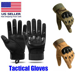 Tactical Gloves Hard Knuckle Full Fingers Military Army Combat Hunting Shooting $11.01