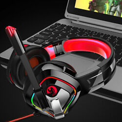 Gaming Headset Gaming Wire controll Hot Headphones LED For PS4 Xbox One PC $25.77