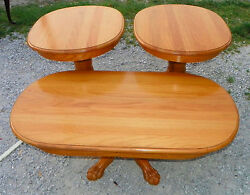Solid Oak Coffee Table amp; Pair of End Tables CT105 $629.10