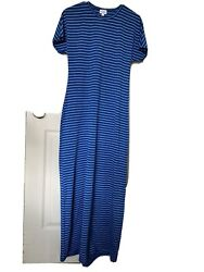 Lularoe Maria Maxi Dress XS NWOT Blue Stripe $18.00