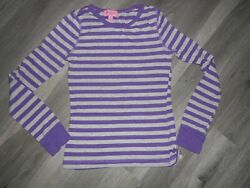 Girls Long Sleeve Tee Shirt SIZE S PURPLE GRAY STRIPE HEARTSOUL GIRLS $6.99