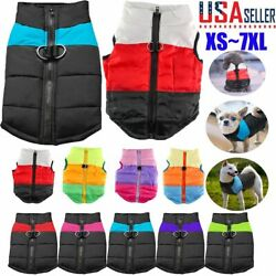 Pet Vest Jacket Warm Puppy Dog Waterproof Clothes Small Large Winter Padded Coat $7.71