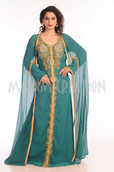 TRADITIONAL SELHAM TUNISIAN CULTURAL WALIMA GOWN FANCY MAXI DRESS BOHO 7223 $119.99