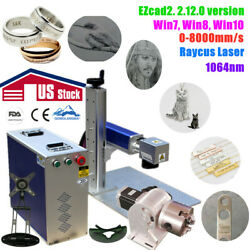 US 30W Split Fiber Laser Marking Engraving Machine with EzcadRotary AxisRaycus $4187.60