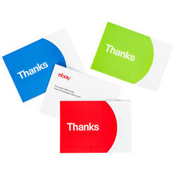 Thank You Cards – Red Blue and Green $15.01