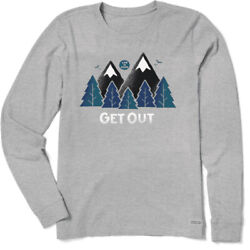 Life is Good Women#x27;s Get Out Crusher Long Sleeve Heather Gray $25.00