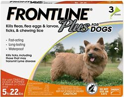 FRONTLINE Plus for Small Dogs 5 22 lbs. Orange Box 3 Month Supply EPA Approved $32.99