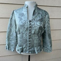 Anthropologie Elevenses Brocade Romantic Victorian Jacket Cocktail Women Silk 10 $18.99