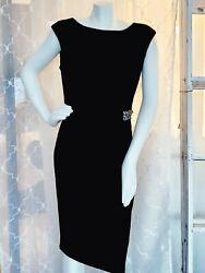 Classy Cocktail Dress Black Label by Evan Picone Black Shift Style size 10 $50.00