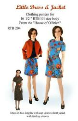 RTB204 Little Dress amp; Jacket pattern to fit Grace and other RTB101 bodies $12.99