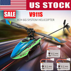 WLtoys V911S 2.4Ghz 4CH 6Aixs Gyro Single Blade Gyro Mini RC Helicopter Toy Gift $55.29