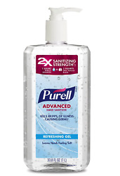 Purell Advanced Refreshing Hand Sanitizer Gel 1Liter 33.8oz SAME DAY SHIPPING $18.99